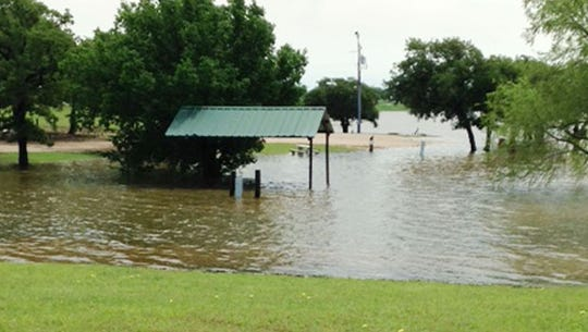 Selma Park, In Montague County, and the adjacent boat ramps were closed due to high waters. The picnic areas at the park near the lake were covered with water, as were the boat docks.