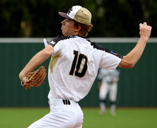 Archer City's Connor Byrd pitches against Alvord Saturday, May 4, 2019, at Hoskins Field. The Wildcats defeated the Bulldogs 11-1.