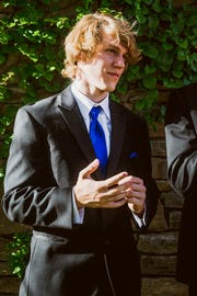 This undated photo provided by Matthew Westmoreland shows Riley Howell. Authorities say Howell, 21, was killed after he tackled a gunman who opened fire in a classroom at the University of North Carolina at Charlotte. Charlotte-Mecklenburg Police Chief Kerr Putney said Howell's actions likely saved the lives of other students.