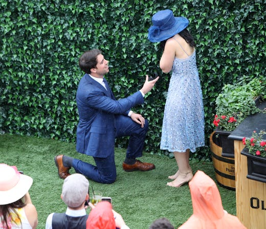 Noah Walsh proposes to Brittany Angelini.