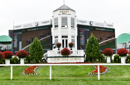 A view of the winner's circle before the 145th running of the Kentucky Derby at Churchill Downs.