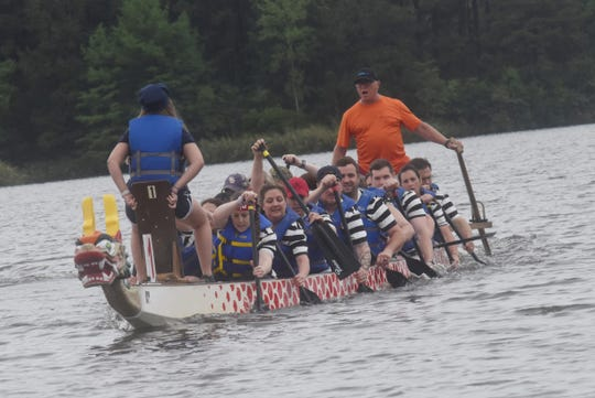 The 2019 Louisiana Dragon Boat Races were held on Lake Buhlow in Pineville.