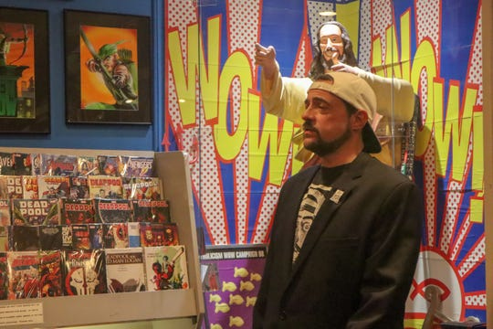 Filmmaker Kevin Smith, a New Jersey native, visited his comic book store, Jay & Silent Bob's Secret Stash, in Red Bank on Saturday, May 4, 2019, taking photos with fans and signing their memorabilia.