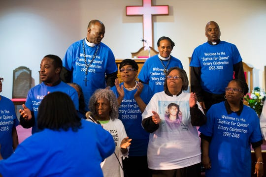Every year Penny Dees held a march asking for justice for her daughter who was murdered in 1992. With a suspect found, and charged but still not convicted, Penny decided to hold a victory celebration instead. With the rain, she held the event at her church, the Asbury Park Deliverance Center.