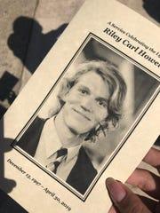A memorial service for University of North Carolina at Charlotte shooting victim Riley Howell was held Sunday, May 5, 2019 at Stuart Auditorium in Lake Junaluska, North Carolina.