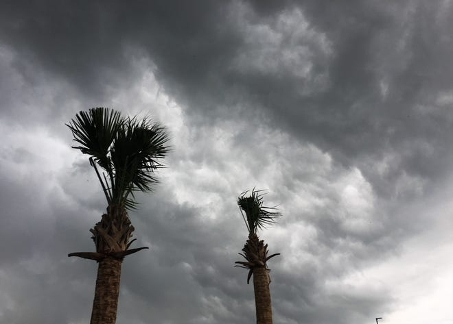 Storm clouds push through Brevard on Sunday.