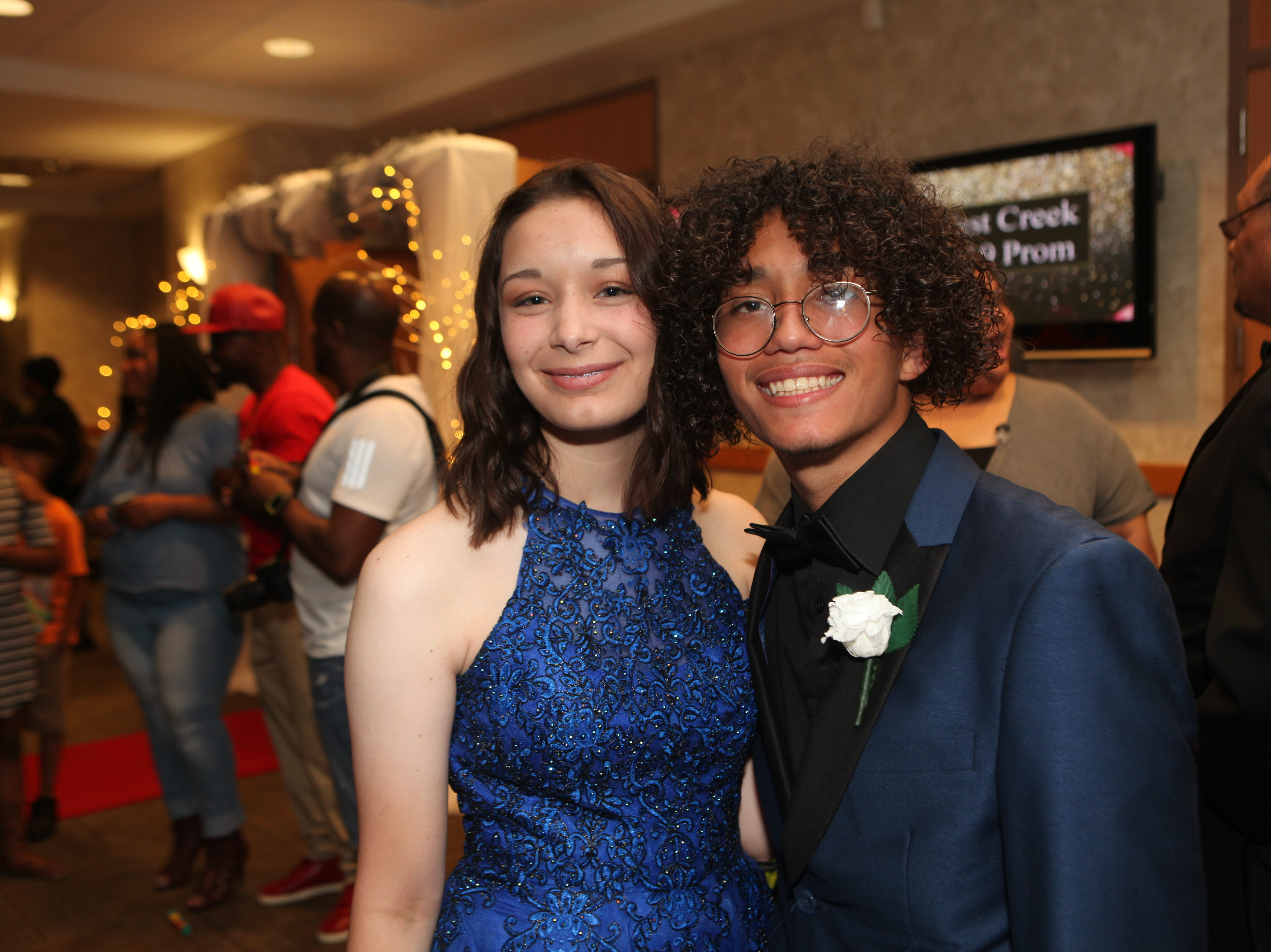 Kayla Engler and Angel Lopez at West Creek High School's 2019 prom 2019, Saturday, May 4.