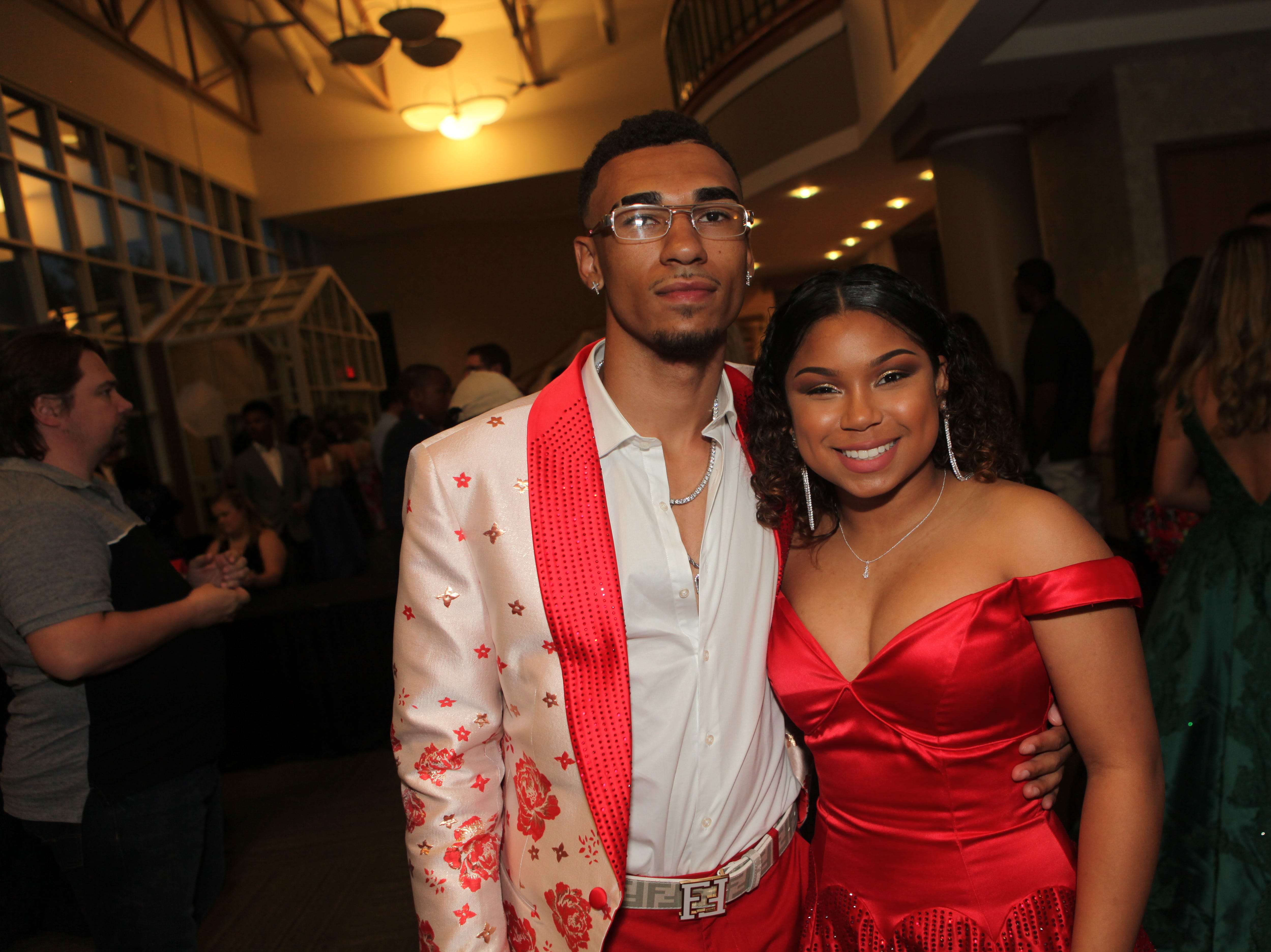 Markeece Shufford and Aaliyah Collier at West Creek High School's 2019 prom 2019, Saturday, May 4.