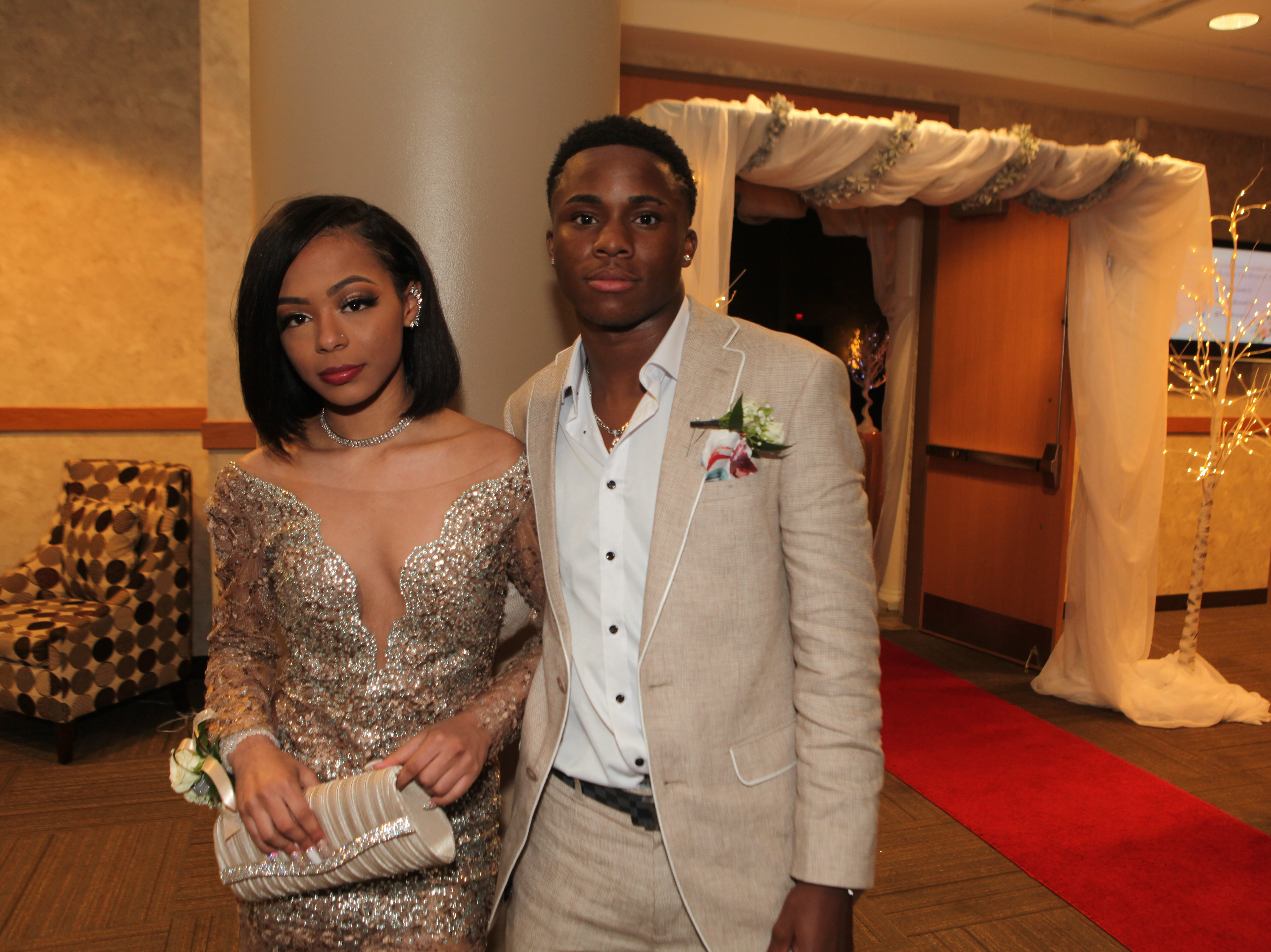 Kayla Cook and Isaiah Thomas at West Creek High School's 2019 prom 2019, Saturday, May 4.