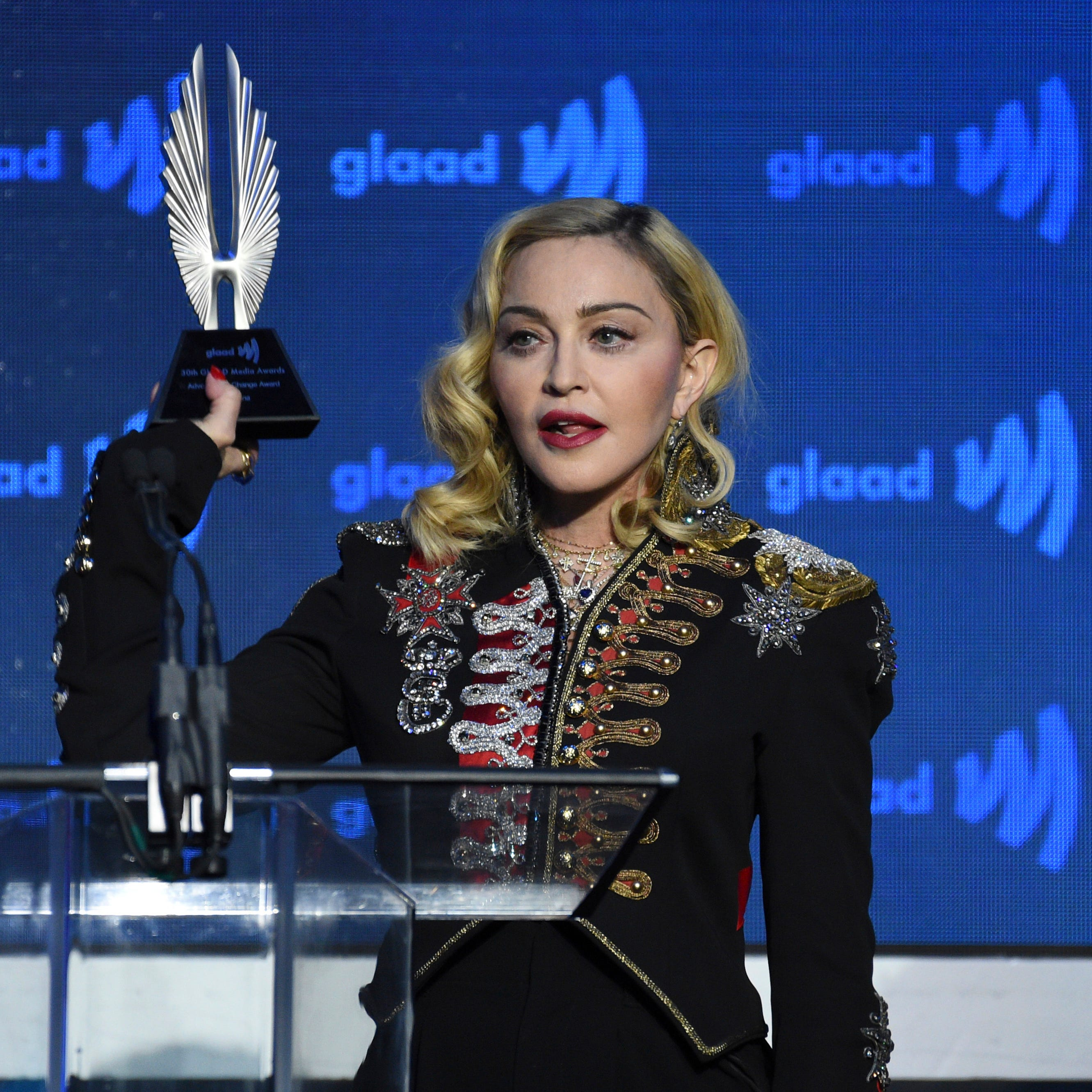 Madonna mentions Detroit club in emotional speech at GLAAD Awards
