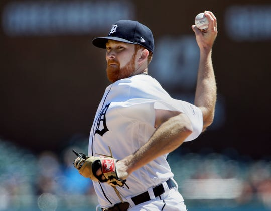 Spencer Turnbull pitches against the Royals during the second inning at Comerica Park on Sunday.