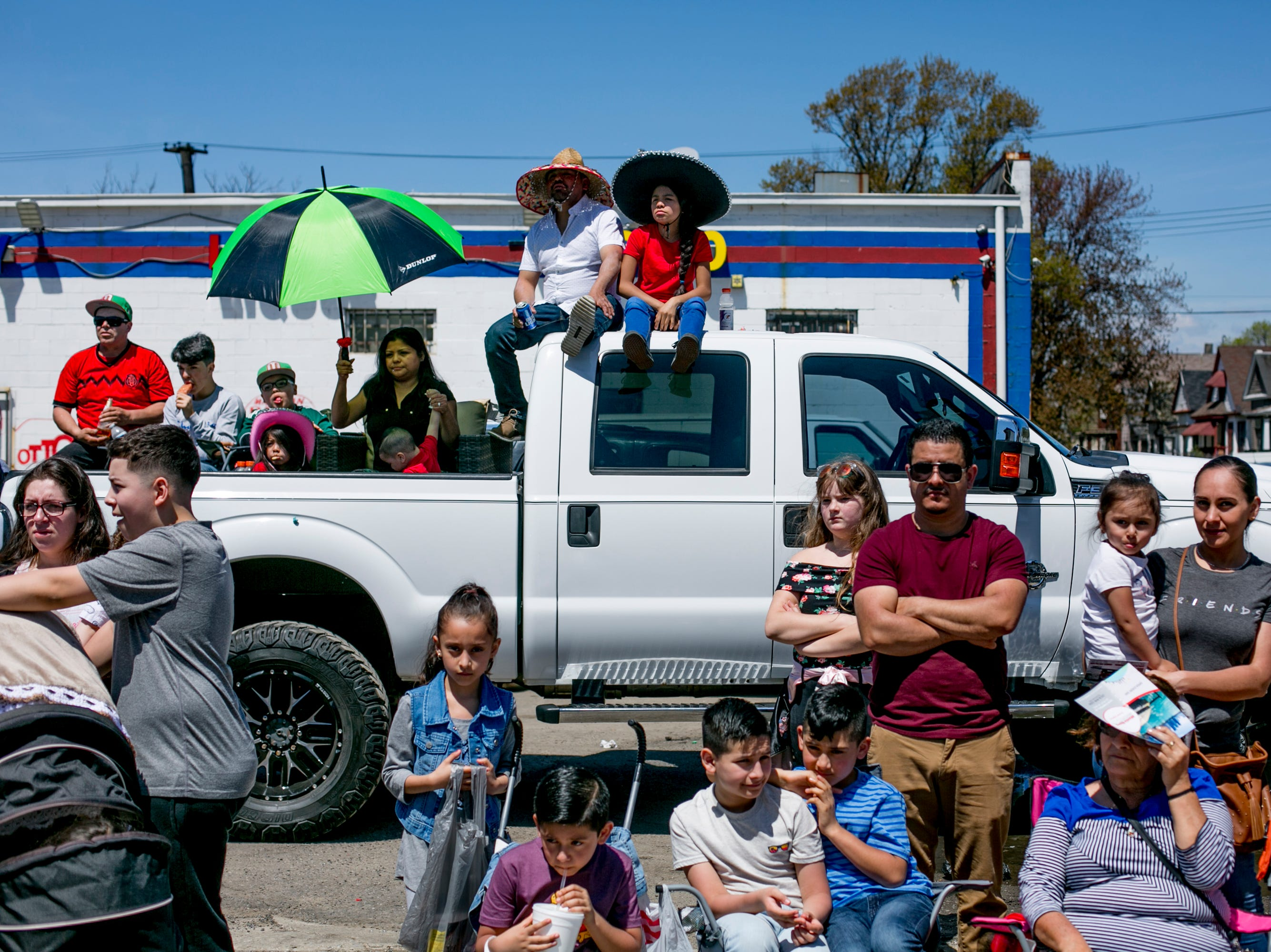 People watch in the 55th Annual Cinco de Mayo parade.