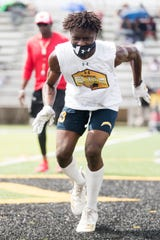 Lehigh High School's Omarion Cooper competed in the Prime Elite Underclassmen Football Camp at Bishop Verot earlier this summer.