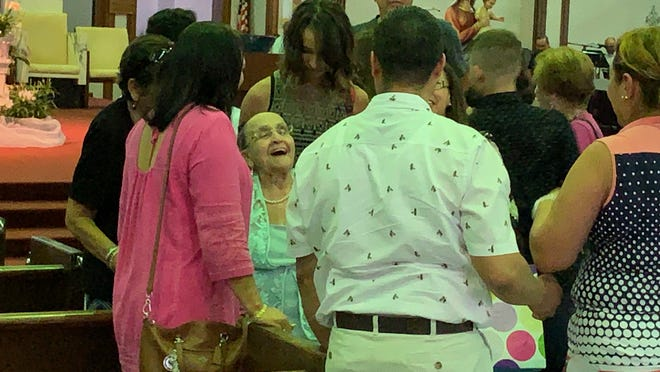 Esther Batista, a native of Santiago in the Dominican Republic, celebrated turning 102 on Sunday at St. Andrew Catholic Church in Cape Coral, surrounded by family and friends.