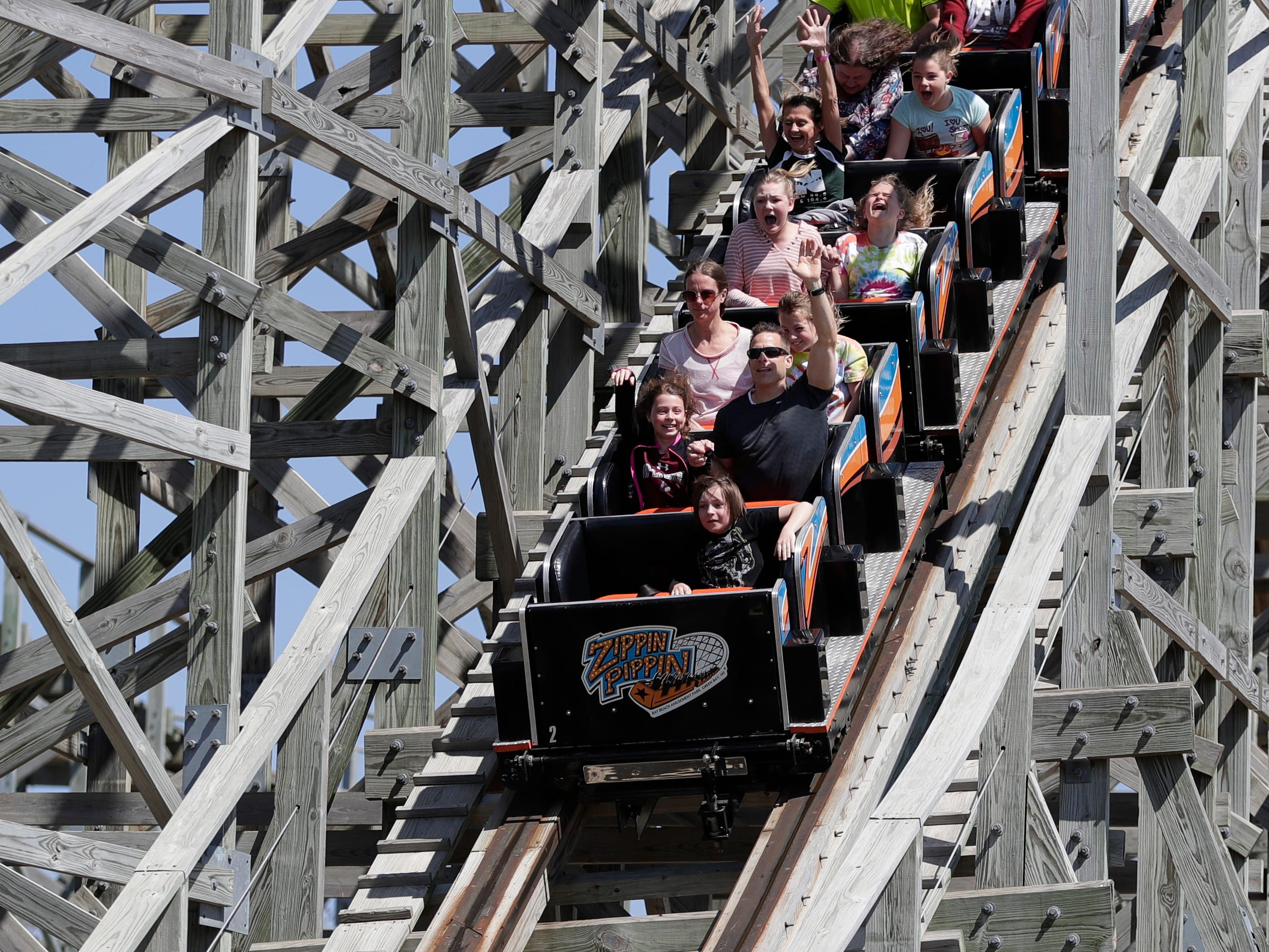 Bay Beach Amusement Park opened for the 2019 season on May 4, 2019, in Green Bay, Wis. Sarah Kloepping/USA TODAY NETWORK-Wisconsin