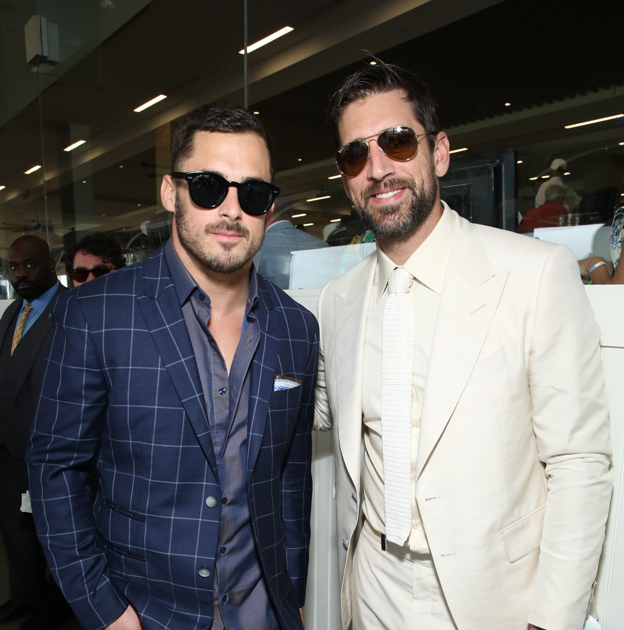 Aaron Rodgers and 'The Crew' make the rounds on Kentucky Derby weekend
