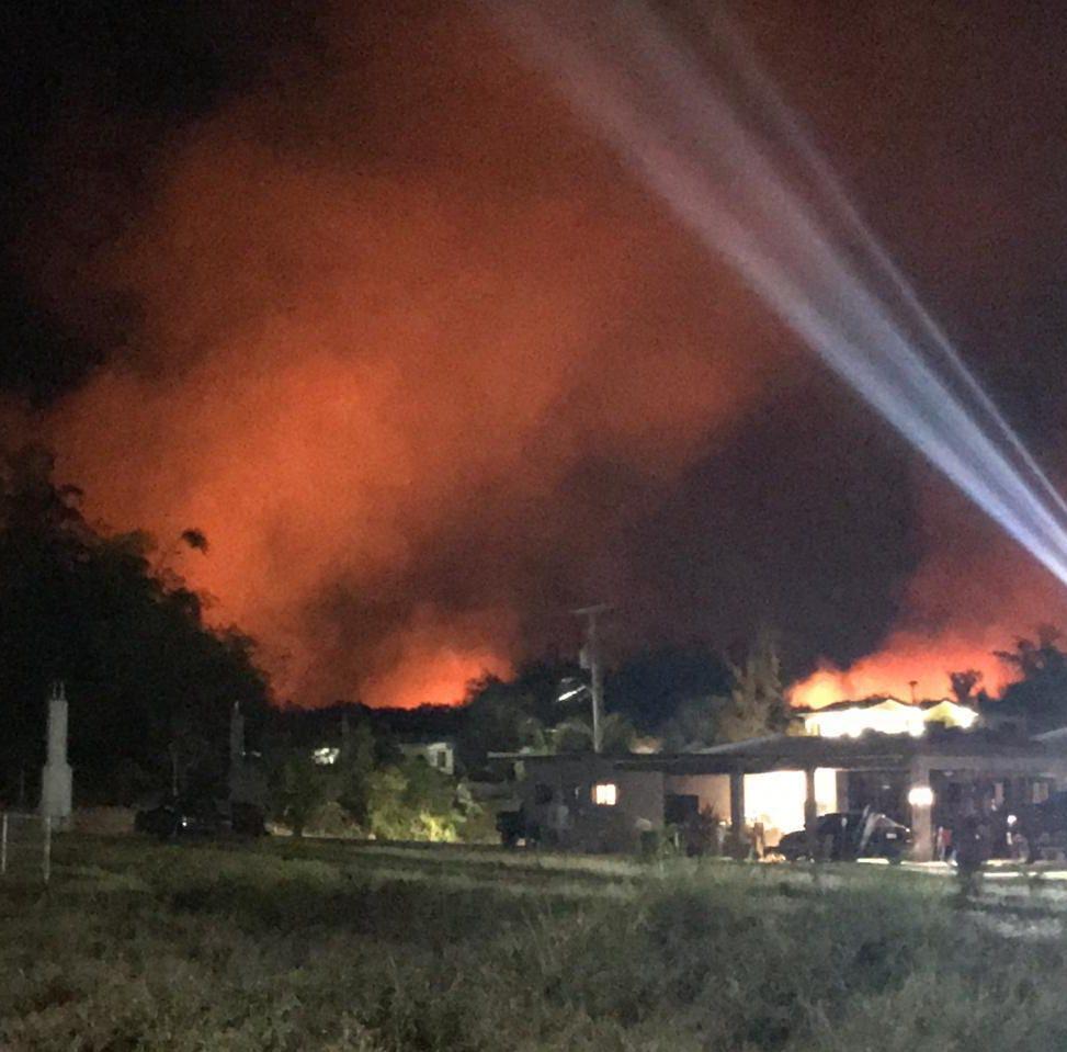 Grass fire reported in Radio Barrigada area