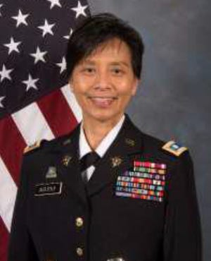 Colonel Esther Aguigui was given formal command as the Adjutant General of the Guam National Guard by Governor Lou Leon Guerrero at a ceremony Sunday afternoon.