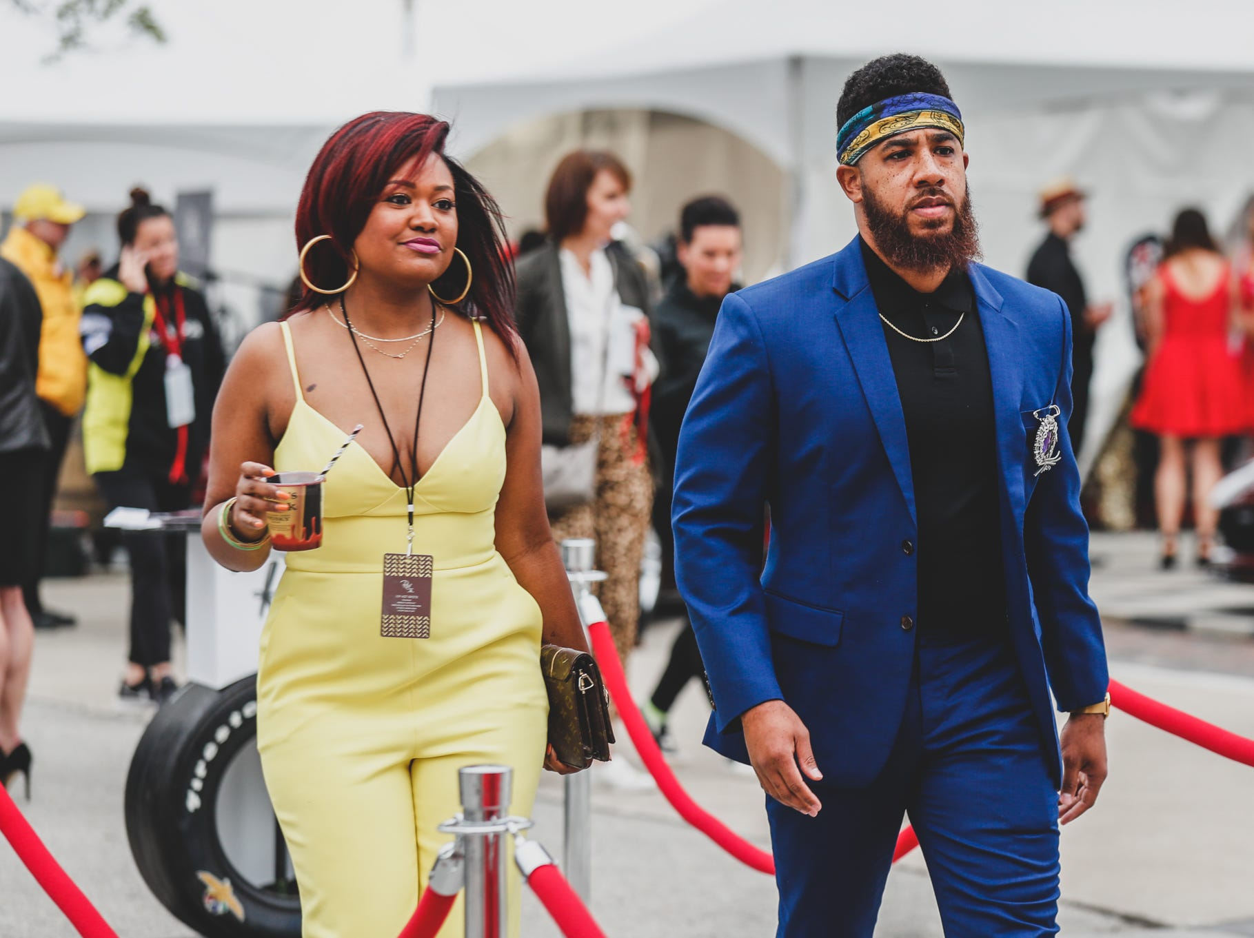 Guests strut their stuff at the Rev Indy fundraiser, held at the Indianapolis Motor Speedway on Saturday, May 4, 2019. Funds raised support the IU Health Foundation statewide and the IU Health Emergency Medical Center at IMS.