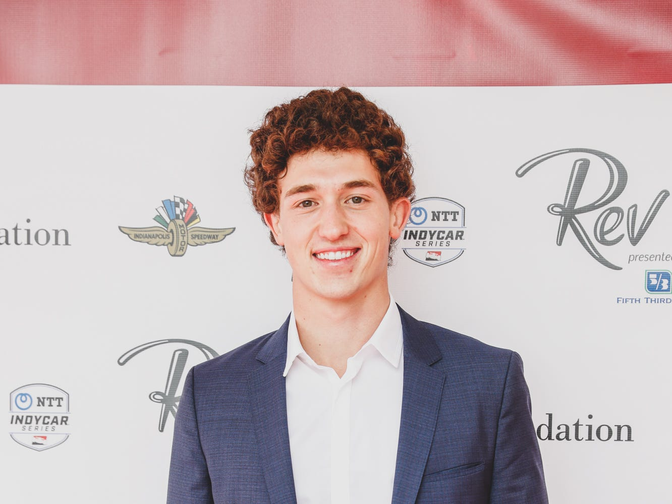 IndyCar driver Matheus Leist walks the red carpet at the Rev Indy fundraiser, held at the Indianapolis Motor Speedway on Saturday, May 4, 2019. Funds raised support the IU Health Foundation statewide and the IU Health Emergency Medical Center at IMS.