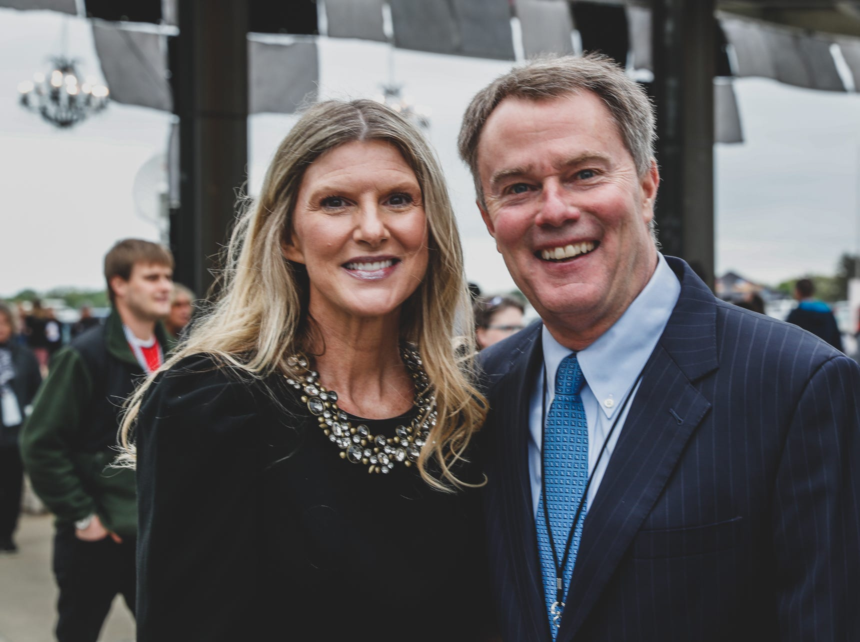 Indianapolis Mayor Joe Hogsett and his wife Stephanie Hogsett attend the Rev Indy fundraiser, held at the Indianapolis Motor Speedway on Saturday, May 4, 2019. Funds raised support the IU Health Foundation statewide and the IU Health Emergency Medical Center at IMS.