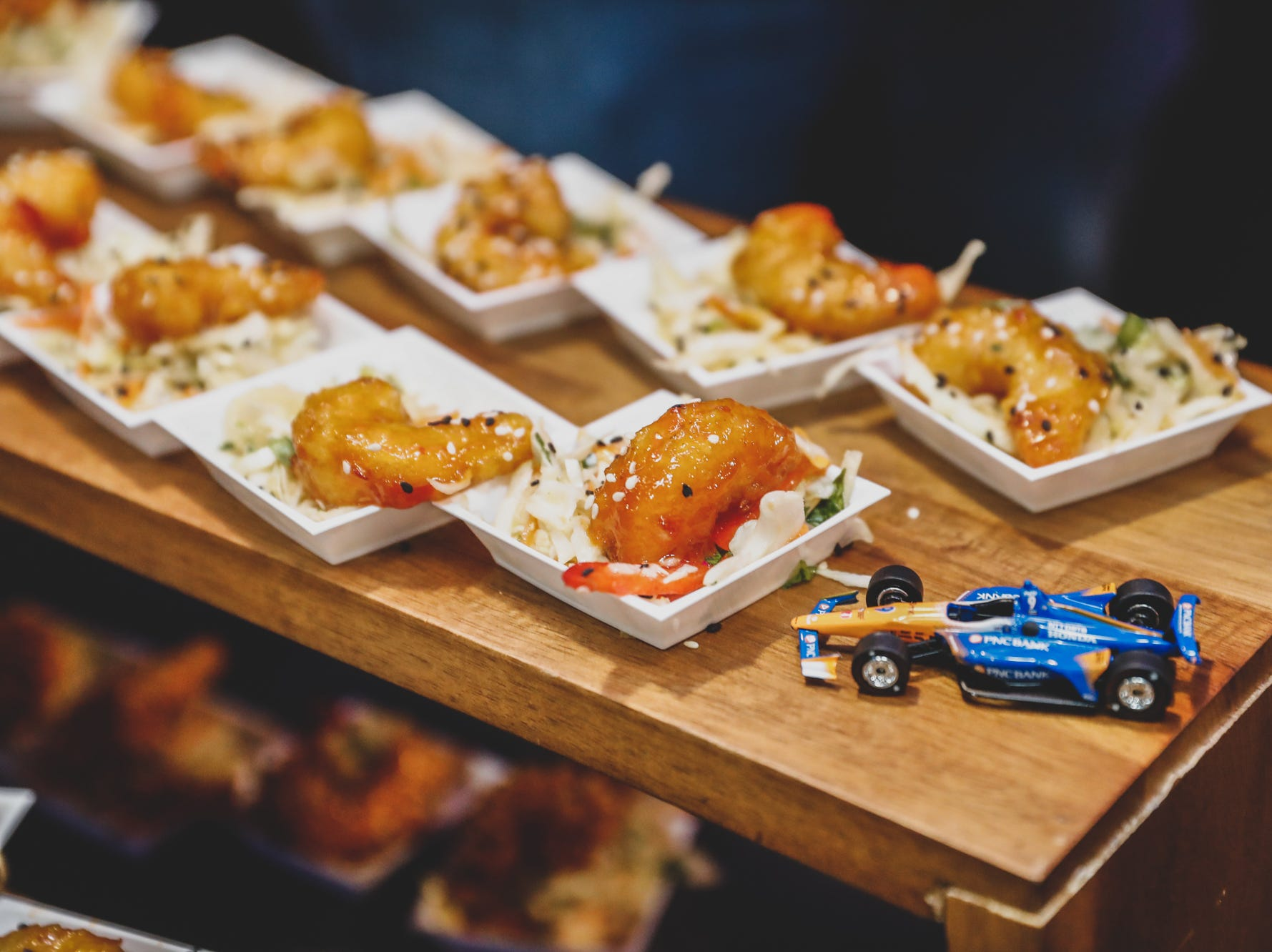 Local chefs and drivers serve up tasty treats  for the Rev Indy fundraiser held at the Indianapolis Motor Speedway on Saturday, May 4, 2019. Funds raised support the IU Health Foundation statewide and the IU Health Emergency Medical Center at IMS.