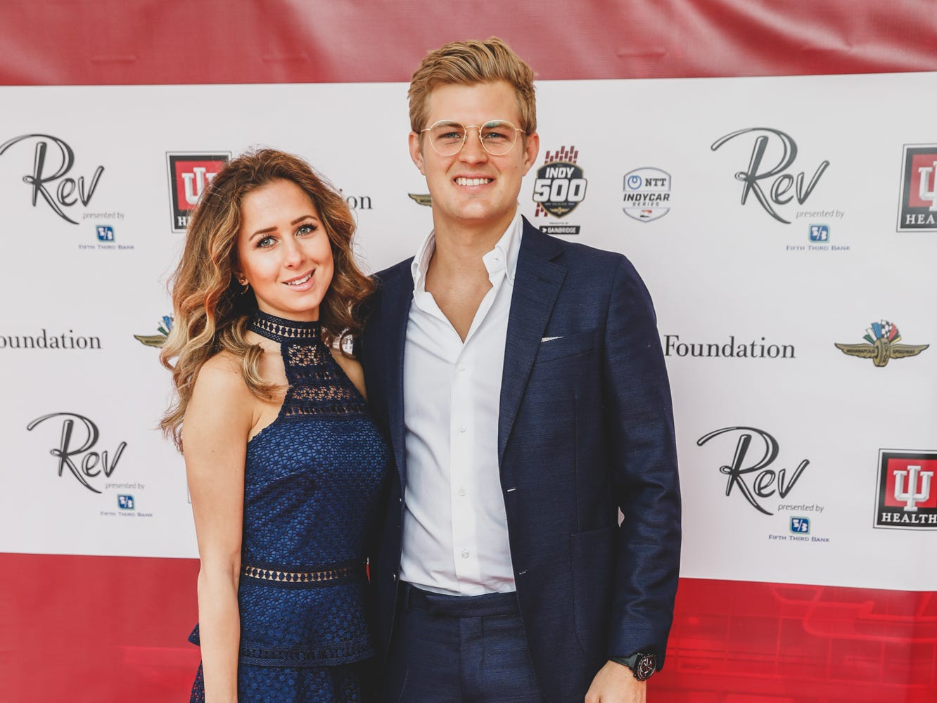 IndyCar driver Marcus Ericsson, left, and Alexandria Zaitseva walk the red carpet at the Rev Indy fundraiser, held at the Indianapolis Motor Speedway on Saturday, May 4, 2019. Funds raised support the IU Health Foundation statewide and the IU Health Emergency Medical Center at IMS.