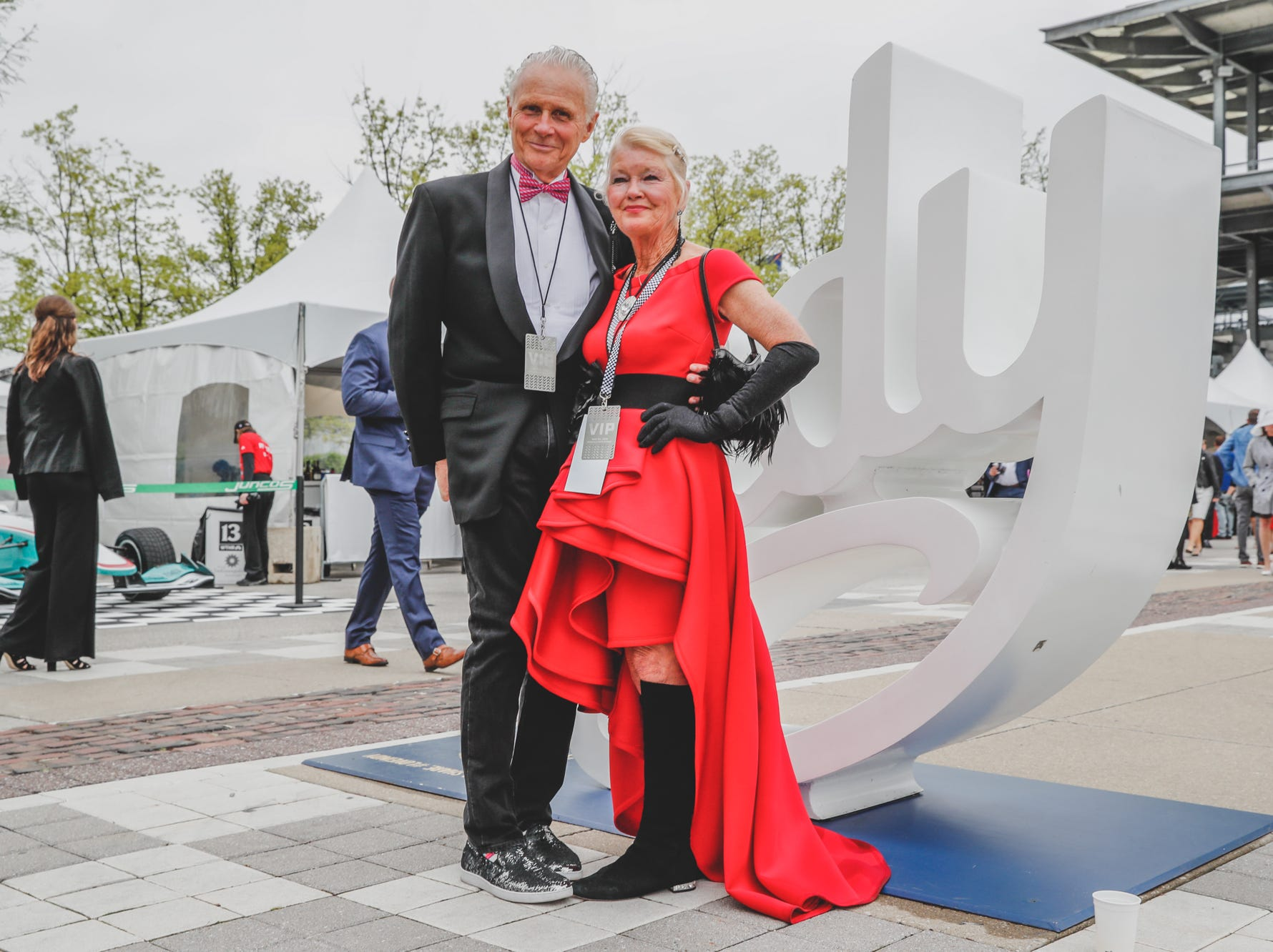 Rev Indy committee member, Teree Bosso and her husband Drew Bosso pose for photos at the Rev Indy fundraiser, held at the Indianapolis Motor Speedway on Saturday, May 4, 2019. Funds raised support the IU Health Foundation statewide and the IU Health Emergency Medical Center at IMS.