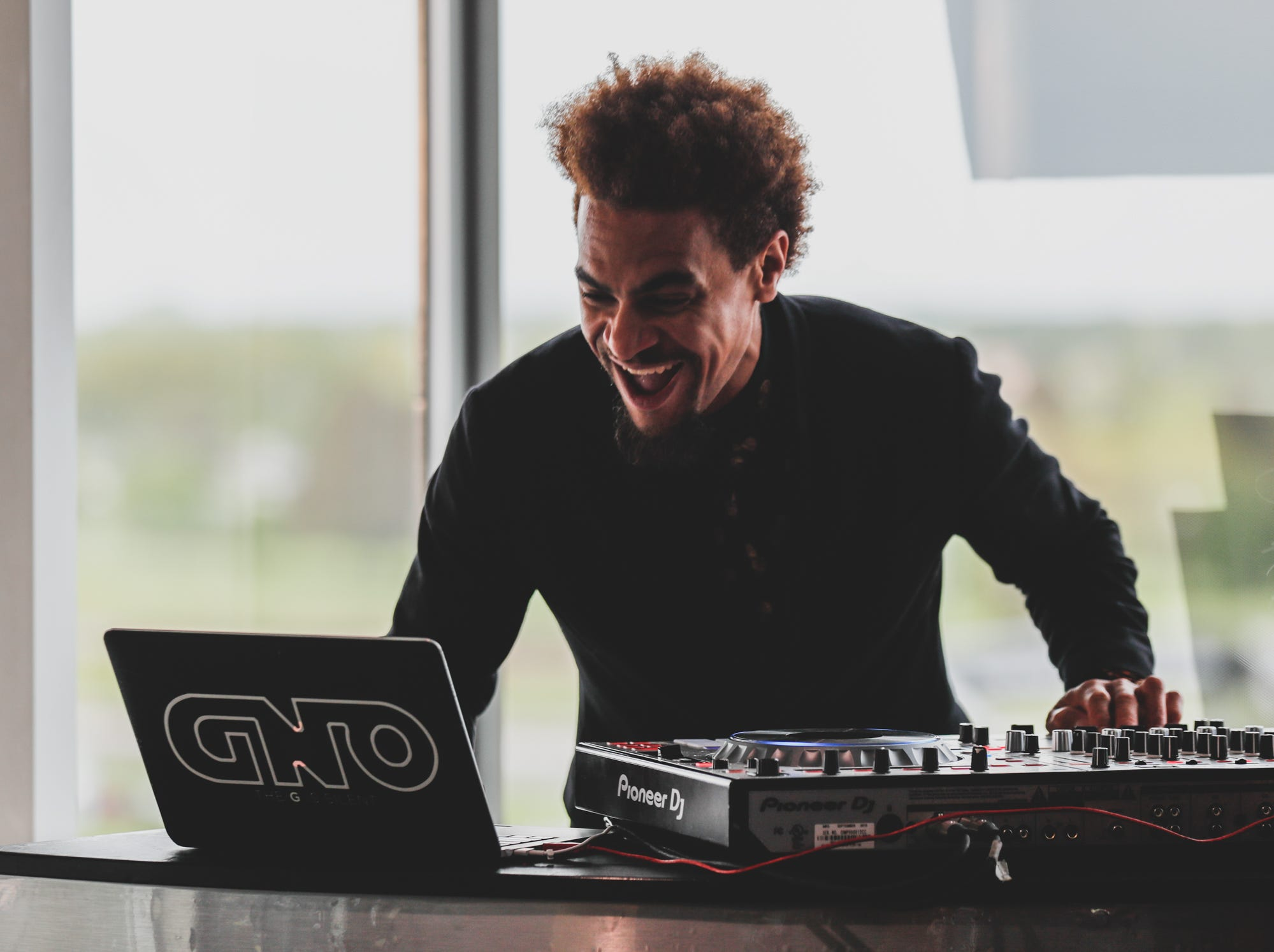 A DJ rocks the house during the Rev Indy fundraiser, held at the Indianapolis Motor Speedway on Saturday, May 4, 2019. Funds raised support the IU Health Foundation statewide and the IU Health Emergency Medical Center at IMS.