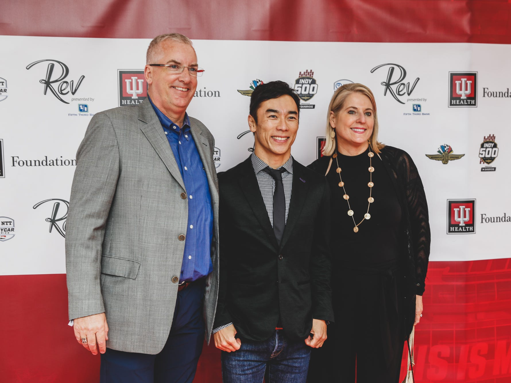 Takuma Sato and guests attend the Rev Indy fundraiser, held at the Indianapolis Motor Speedway on Saturday, May 4, 2019. Funds raised support the IU Health Foundation statewide and the IU Health Emergency Medical Center at IMS.