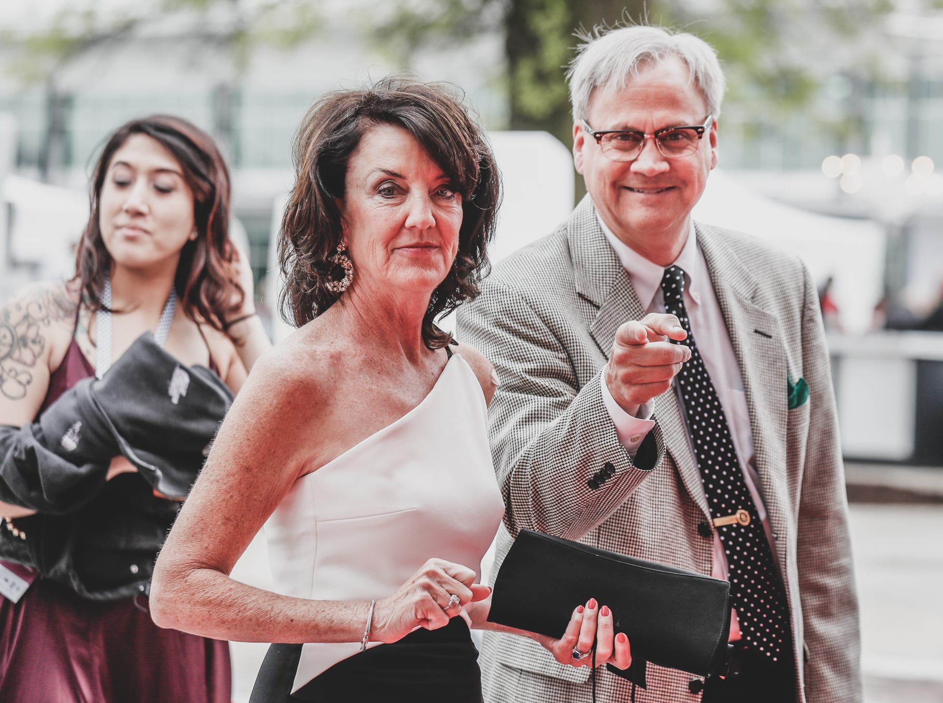 Candidate for Indianapolis Mayor, Jim Merritt, and his wife Kelley Merritt, attend the Rev Indy fundraiser, held at the Indianapolis Motor Speedway on Saturday, May 4, 2019. Funds raised support the IU Health Foundation statewide and the IU Health Emergency Medical Center at IMS.