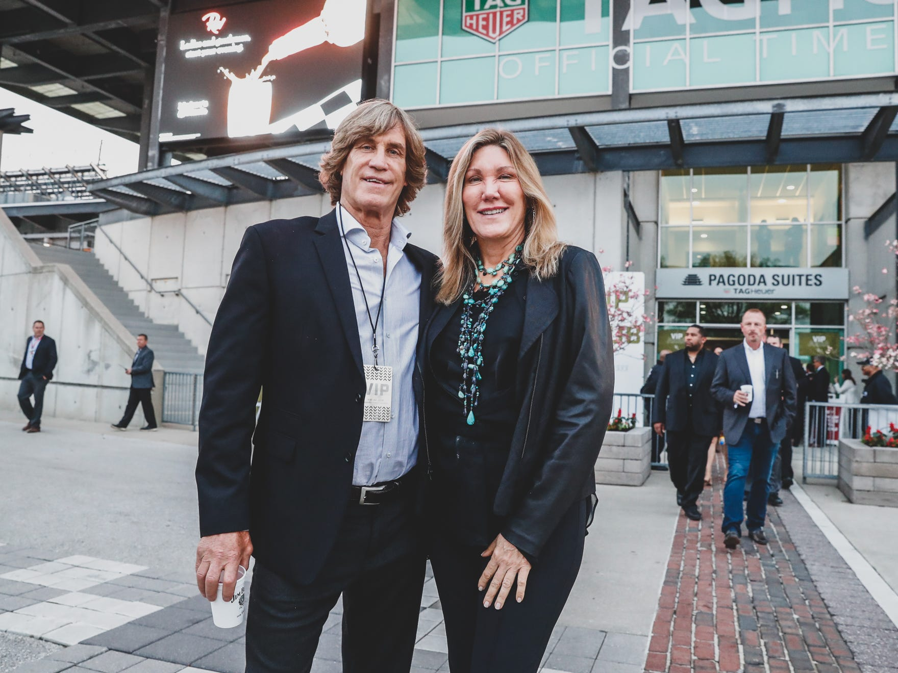 Nancy George and Steve Cardoza attend the Rev Indy fundraiser, held at the Indianapolis Motor Speedway on Saturday, May 4, 2019. Funds raised support the IU Health Foundation statewide and the IU Health Emergency Medical Center at IMS.