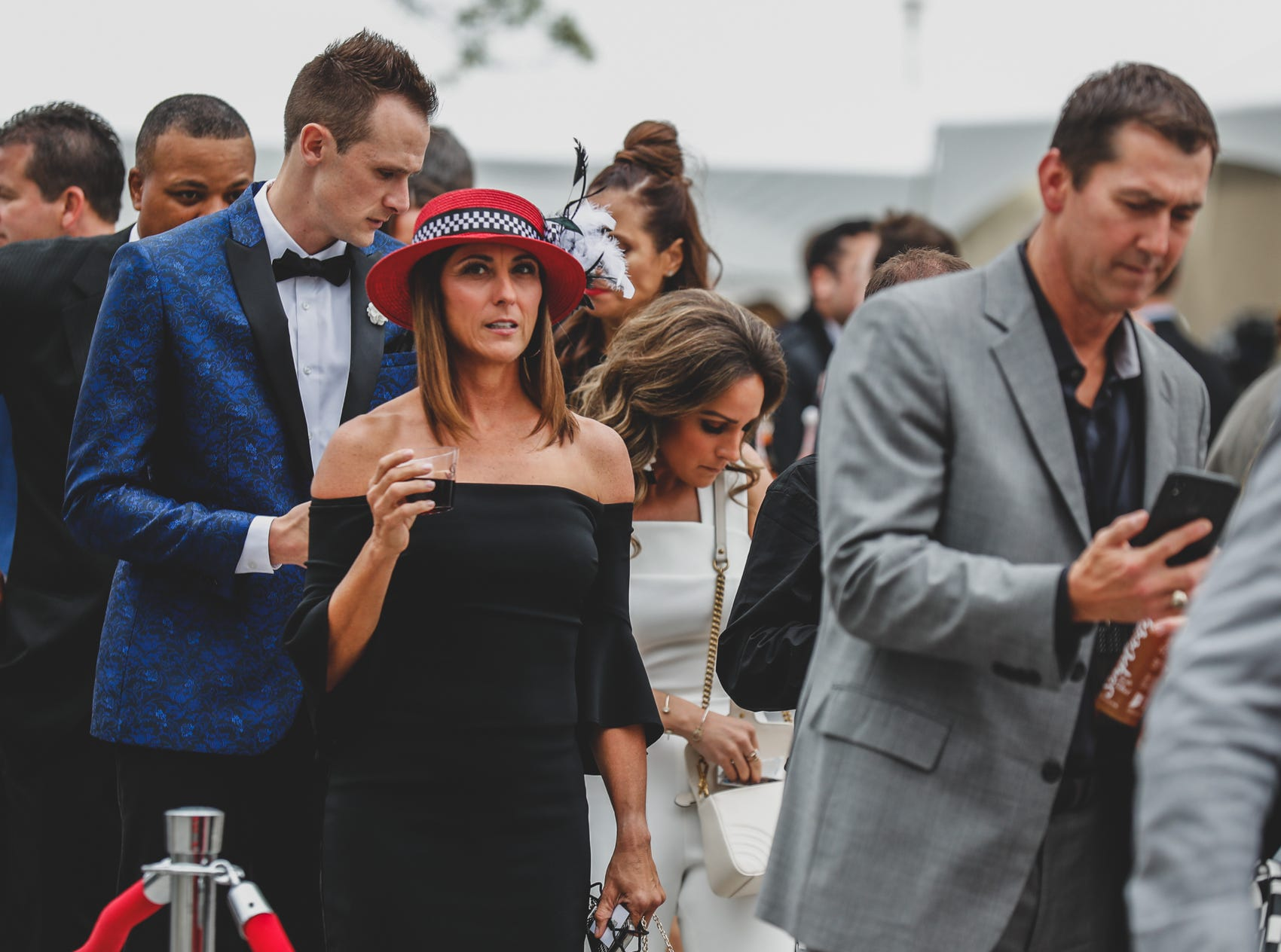 Guests dress to impress for an evening of food, fashion, and IndyCar racing fun at the Rev Indy fundraiser, held at the Indianapolis Motor Speedway on Saturday, May 4, 2019. Funds raised support the IU Health Foundation statewide and the IU Health Emergency Medical Center at IMS.