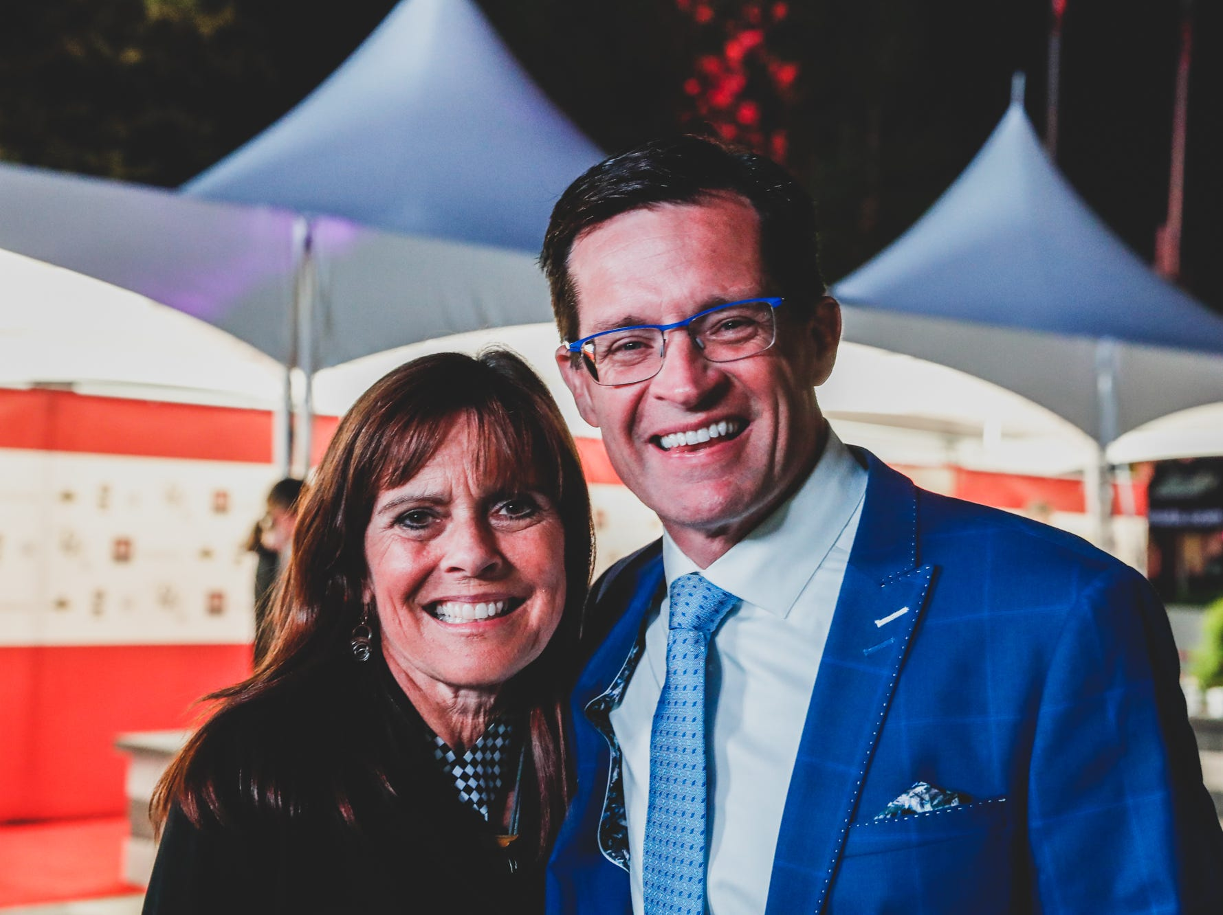 IMS President J. Douglas Boles and his wife Beth attend the Rev Indy fundraiser, held at the Indianapolis Motor Speedway on Saturday, May 4, 2019. Funds raised support the IU Health Foundation statewide and the IU Health Emergency Medical Center at IMS.