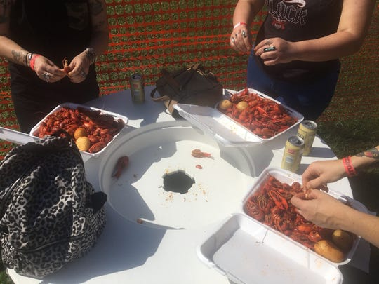 B&L Broilers proved plates full of crawfish at the festival. They sold over 70 sacks Friday.