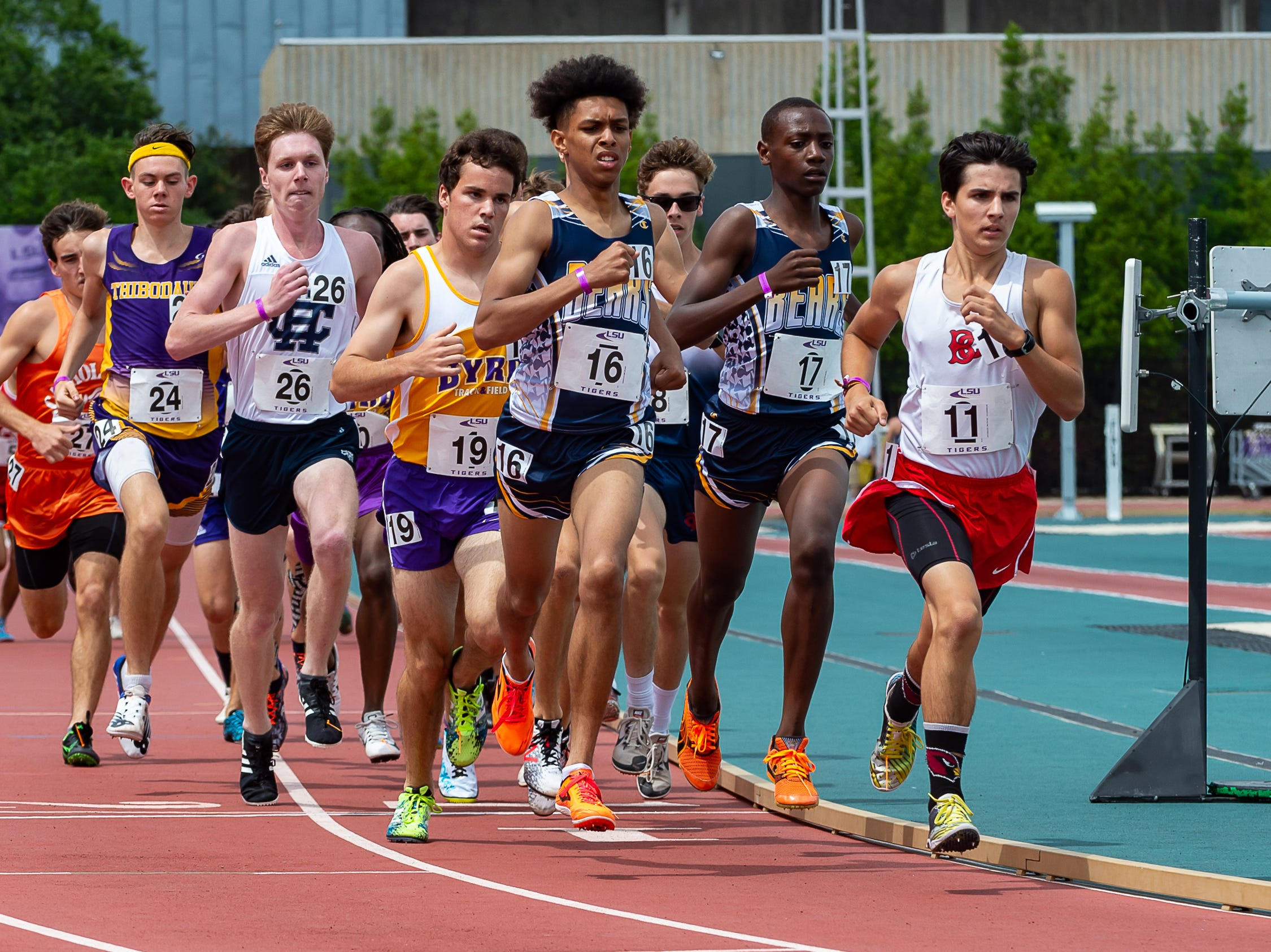 Carencro's Cameron Angelle wins the boys 4A 3200m run at The LHSAA Sate Track Meet at Bernie Moore Track in Baton Rouge, LA. Saturday, May 4, 2019.