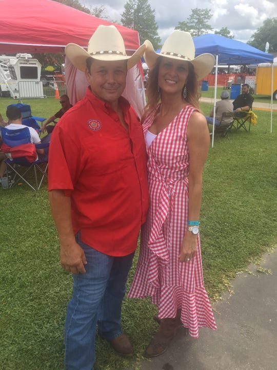 Ben Huval and Patricia Gaspard, zydeco dance contest winners, showed up to win with matching hats and dancing feet