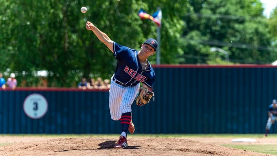 Starting pitcher Braxton Gallett on the mound as Teurlings Catholic takes on St. Charles in game two of the semi final round of the LHSAA playoffs. Sunday, May 5, 2019.