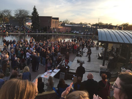 A large crowd descended on Brighton's Mill Pond to hear alt-rock band Sponge and other acts, Saturday, May 4, 2019.