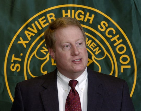 St. Xavier High School President Perry Sangalli in 2005 after the school announced a drive  to raise $28 million.