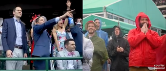 The running of the Kentucky Derby always brings people from all walks of life. View scenes from the infield and the grandstands at Churchill Downs.