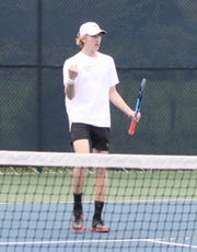 Lexington's Benton Drake earned his second consecutive Ohio Cardinal Conference Most Valuable Player award during the OCC tennis tournament last week.