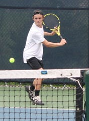 Lexington's Blake Webster won No. 2 singles to help the Minutemen repeat as the Ohio Cardinal Conference champions.