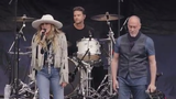 Miley Cyrus performs a live surprise set to celebrate the launch of Facebook's new campaign, More Together, alongside Marc Cohn at the Beale Street Music Festival, Saturday, May 4, 2019 in Memphis.