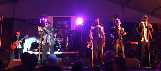 William Bell and band in the Blues Tent in Tom Lee Park.