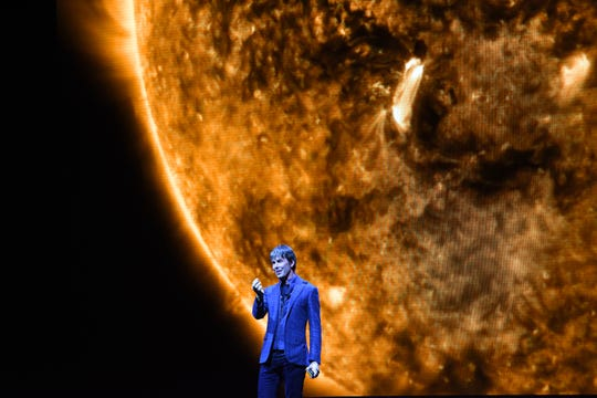 Professor Brian Cox, shown in his live show to London's SSE Arena Wembley, brings his tour to the Pabst Theater Friday.