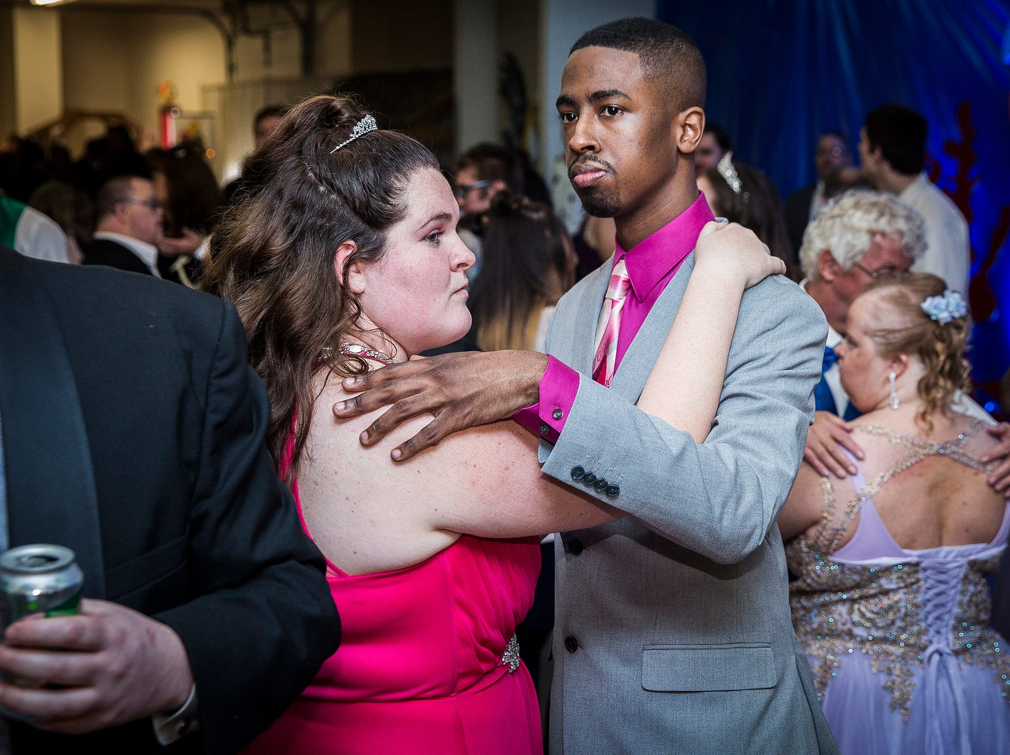 Local students, families and other community members celebrated the 2019 Delaware County Special Needs Prom at the Delaware County Fairgrounds Saturday evening.  The Disney-themed event featured costumed volunteers, food, drinks and a live DJ. Each year, the Special Needs Prom has relocated due to the increasing size of the event. The prom requires outside donations in order to occur each year - interested donors can find more information at https://delcospecialneedsprom.org.