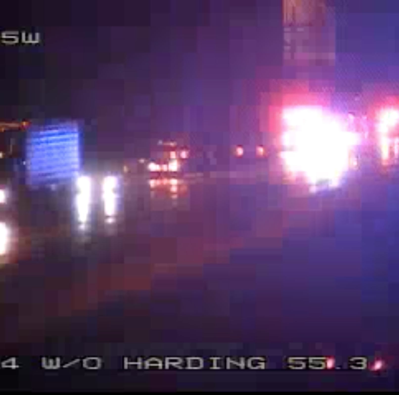 I-24 eastbound closed at Harding Place after vehicle catches fire