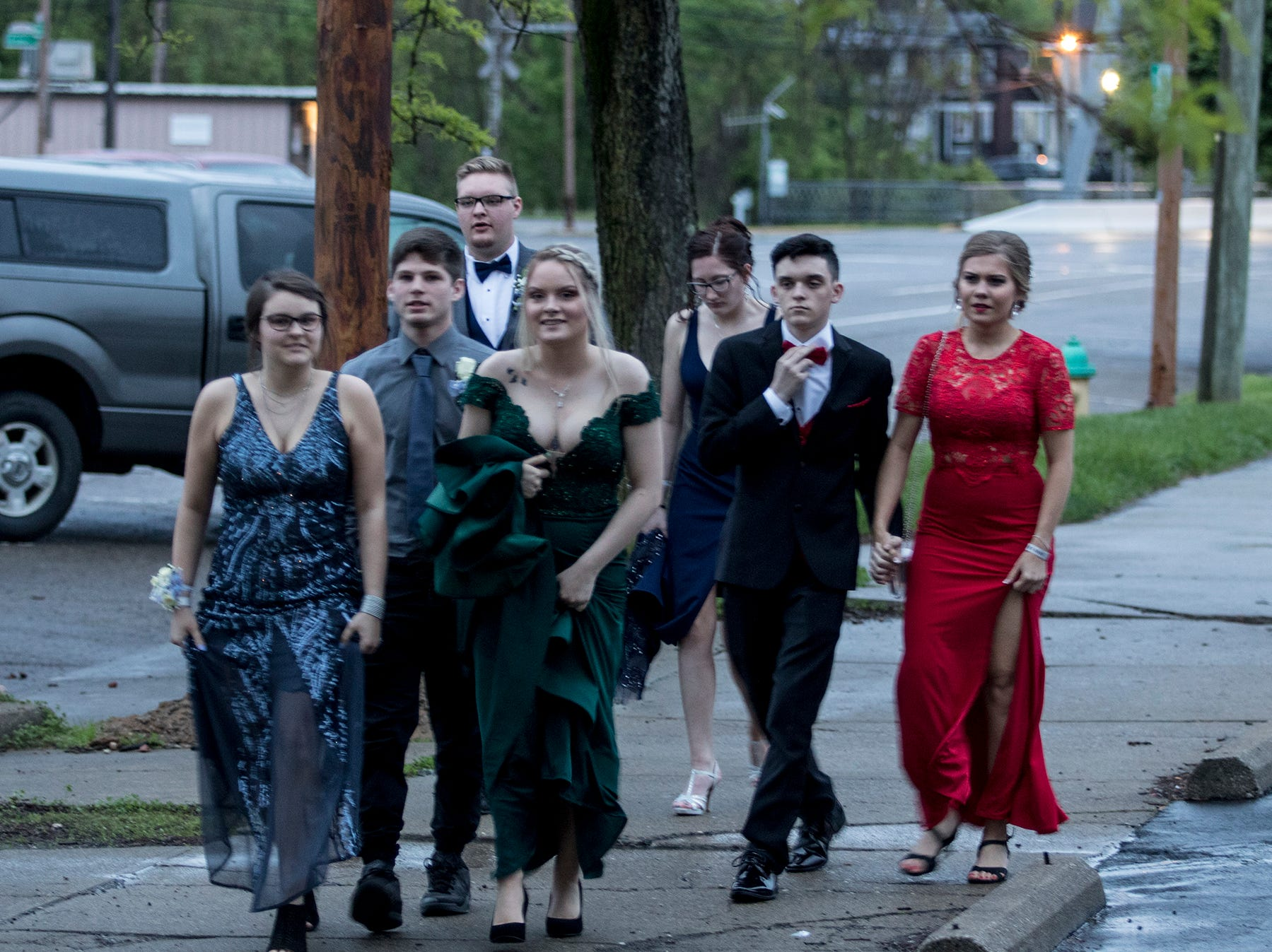 Newark High School students enjoy their prom at the Skylight in downtown Newark Saturday evening.