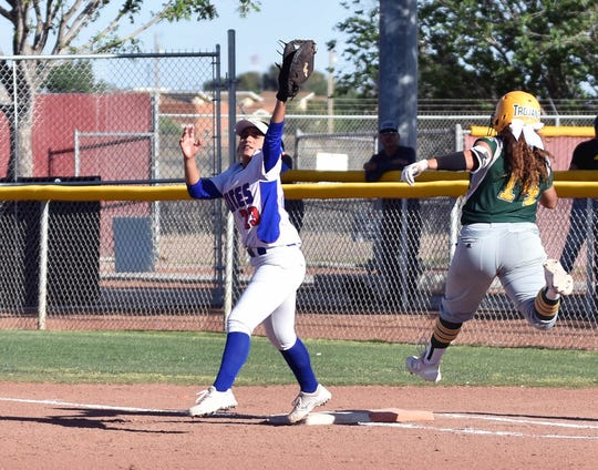 The Las Cruces softball team looks to defend its New Mexico state softball championship during the state tournament.